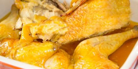 Pollo a la Cerveza asado al horno
