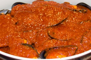 Mejillones en salsa vizcaína