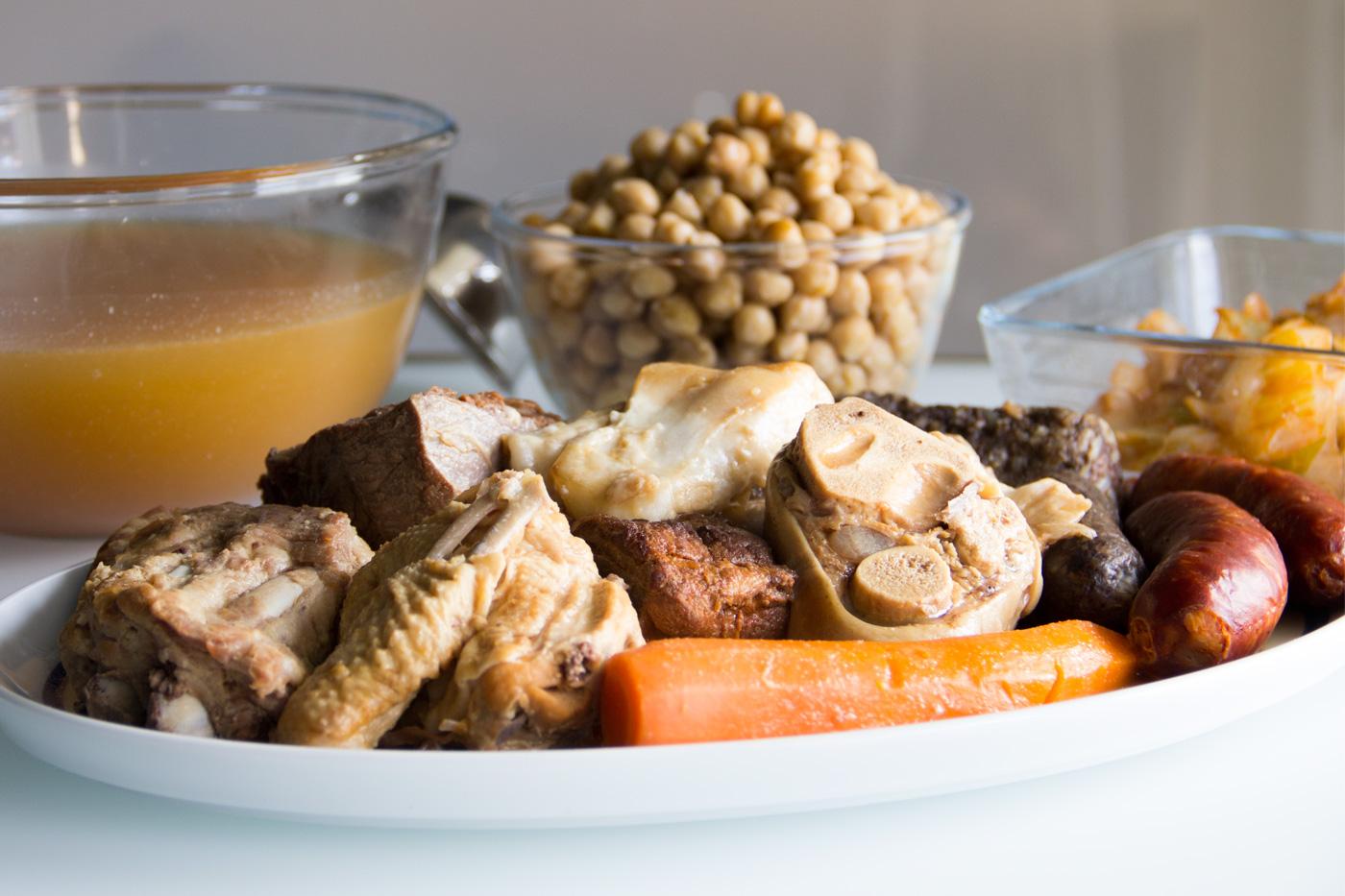 Cocido madrile o en olla express i comando cocina - Cocido en la olla express ...