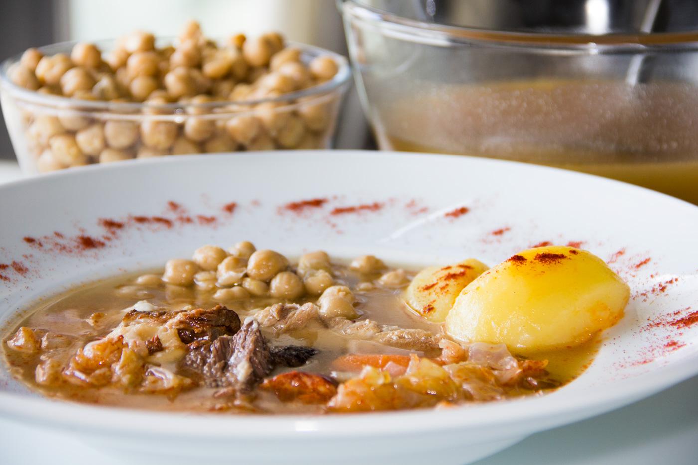 Cocido madrile o en olla express i comando cocina - Como cocer garbanzos en olla express ...